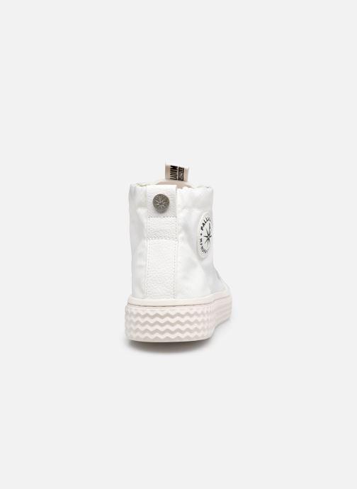 Sneakers Palladium TEMPO 05 NYL Wit rechts
