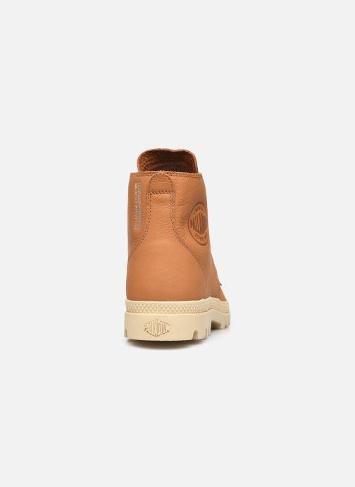 Sneakers Palladium PAMPA HI UL LTH II M Bruin rechts