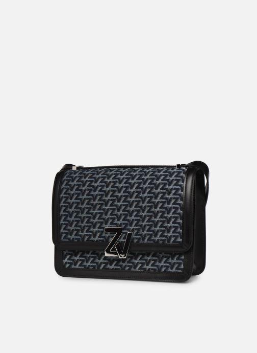 Sacs à main Zadig & Voltaire ZV Initiale Canvas Noir vue portées chaussures
