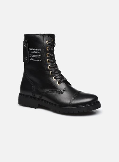 Bottines et boots Zadig & Voltaire Joe Smooth Cows Noir vue détail/paire