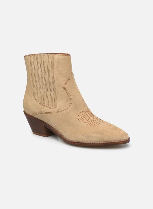 Bottines et boots Zadig & Voltaire Tyler Suede Elastic Beige vue détail/paire