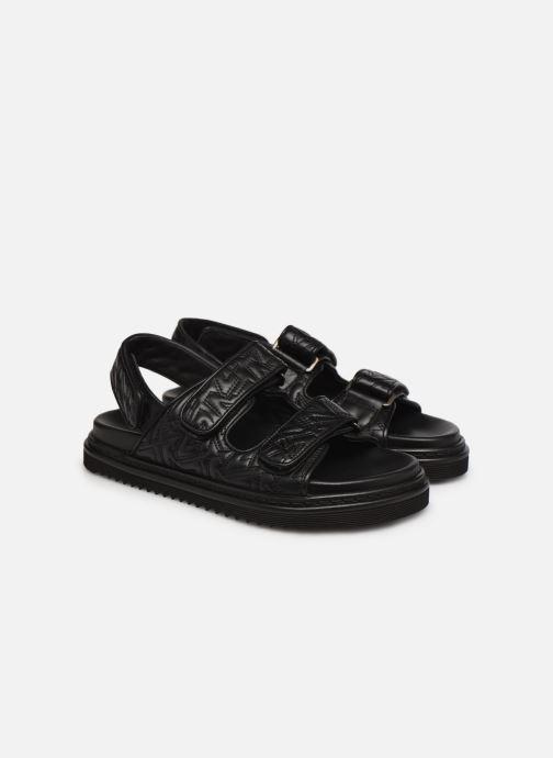 Sandales et nu-pieds Zadig & Voltaire Alpha Grunge Monogram Quilted Noir vue 3/4