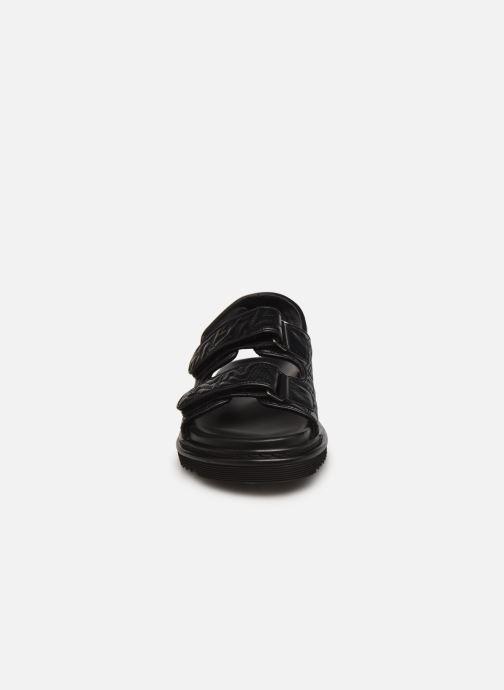 Sandales et nu-pieds Zadig & Voltaire Alpha Grunge Monogram Quilted Noir vue portées chaussures
