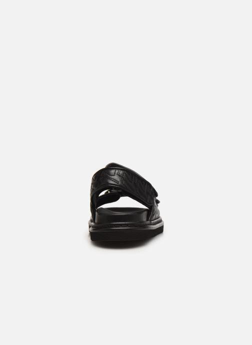 Sandales et nu-pieds Zadig & Voltaire Alpha Grunge Monogram Quilted Noir vue droite
