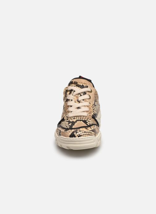 Baskets Zadig & Voltaire Blaze Wild Beige vue portées chaussures