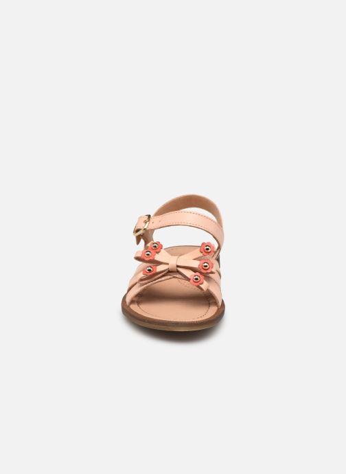 Sandalen Romagnoli 7789R rosa schuhe getragen