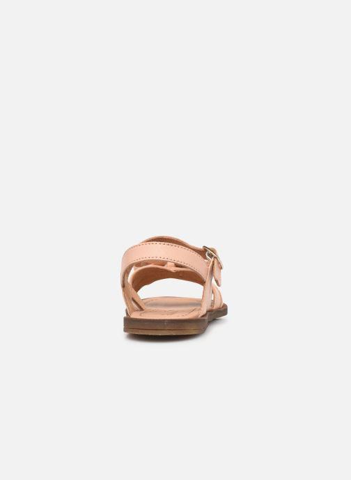 Sandalen Romagnoli 7789R rosa ansicht von rechts