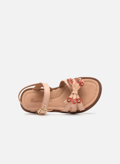 Sandalen Romagnoli 7789R rosa ansicht von links