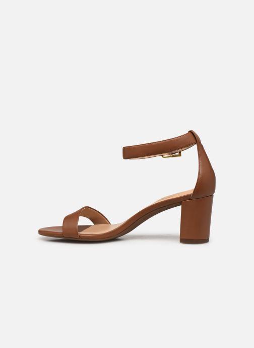 Sandali e scarpe aperte Lauren Ralph Lauren WAVERLI-SANDALS-CASUAL Marrone immagine frontale
