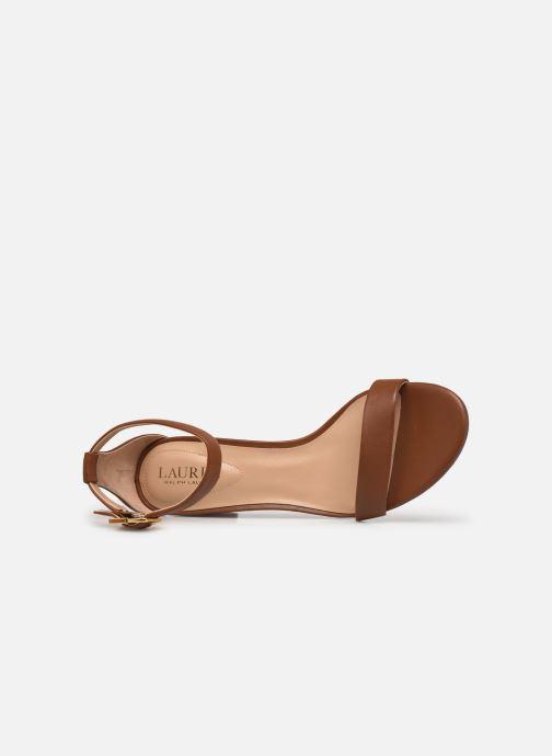 Sandali e scarpe aperte Lauren Ralph Lauren WAVERLI-SANDALS-CASUAL Marrone immagine sinistra
