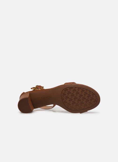 Sandali e scarpe aperte Lauren Ralph Lauren WAVERLI-SANDALS-CASUAL Marrone immagine dall'alto