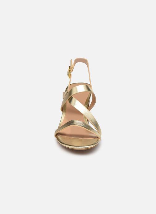 Sandali e scarpe aperte Lauren Ralph Lauren MACKENSIE-SANDALS-CASUAL Oro e bronzo modello indossato