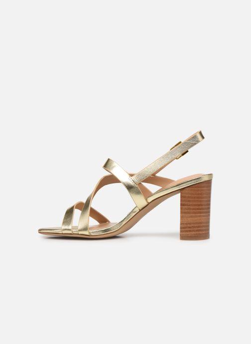 Sandali e scarpe aperte Lauren Ralph Lauren MACKENSIE-SANDALS-CASUAL Oro e bronzo immagine frontale