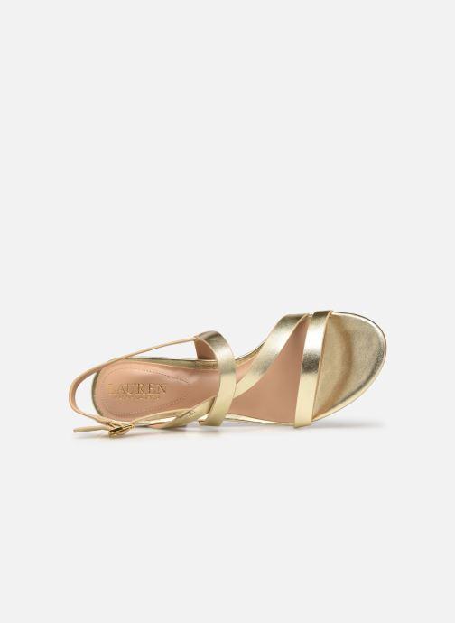 Sandali e scarpe aperte Lauren Ralph Lauren MACKENSIE-SANDALS-CASUAL Oro e bronzo immagine sinistra