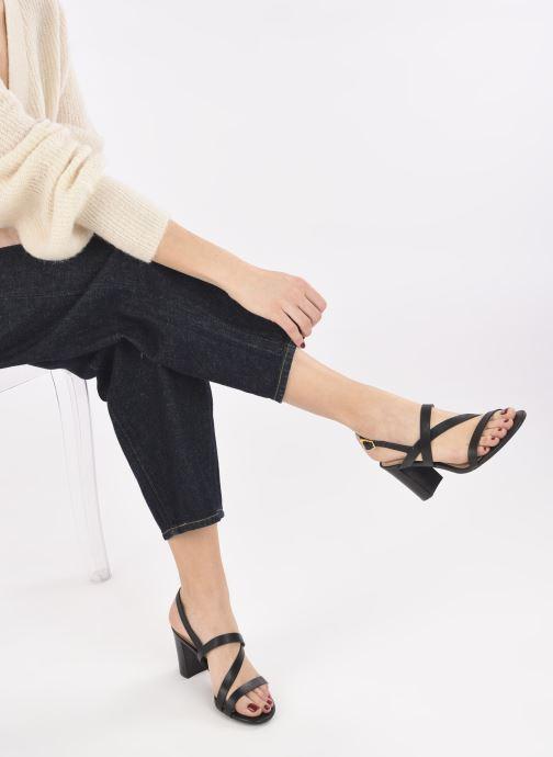 Sandali e scarpe aperte Lauren Ralph Lauren MACKENSIE-SANDALS-CASUAL Nero immagine dal basso