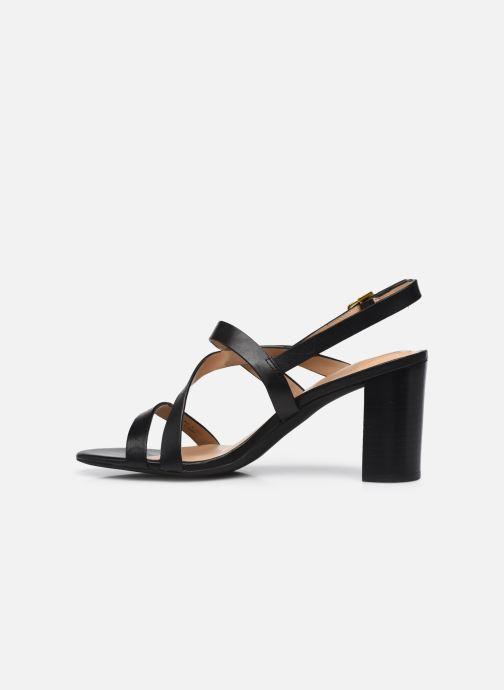 Sandali e scarpe aperte Lauren Ralph Lauren MACKENSIE-SANDALS-CASUAL Nero immagine frontale