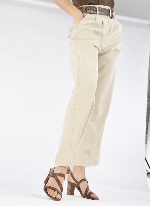 Sandalen Lauren Ralph Lauren MACKENSIE-SANDALS-CASUAL braun ansicht von unten / tasche getragen