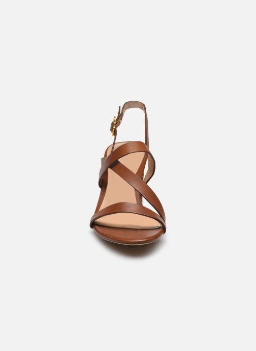 Sandali e scarpe aperte Lauren Ralph Lauren MACKENSIE-SANDALS-CASUAL Marrone modello indossato