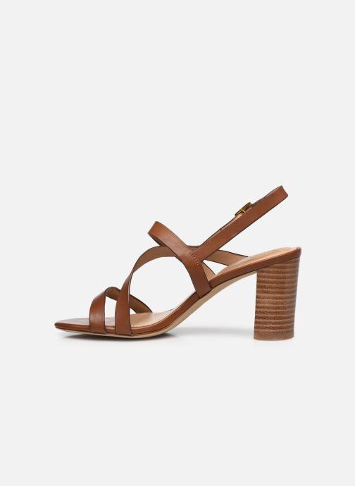 Sandali e scarpe aperte Lauren Ralph Lauren MACKENSIE-SANDALS-CASUAL Marrone immagine frontale