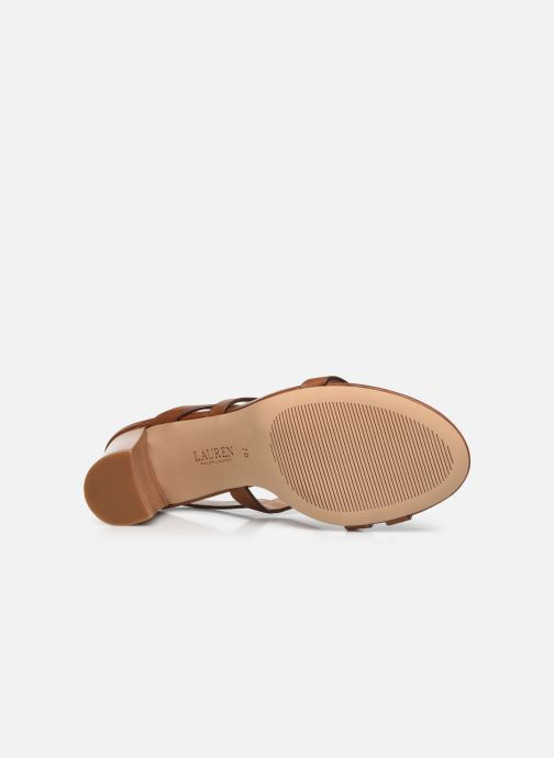 Sandali e scarpe aperte Lauren Ralph Lauren MACKENSIE-SANDALS-CASUAL Marrone immagine dall'alto