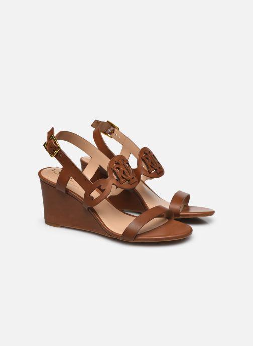Sandali e scarpe aperte Lauren Ralph Lauren AMILEA-SANDALS-CASUAL WEDGE Marrone immagine 3/4