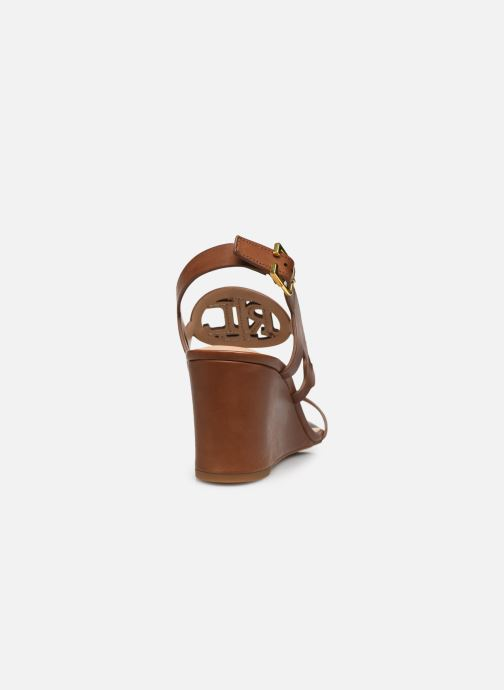 Sandali e scarpe aperte Lauren Ralph Lauren AMILEA-SANDALS-CASUAL WEDGE Marrone immagine destra