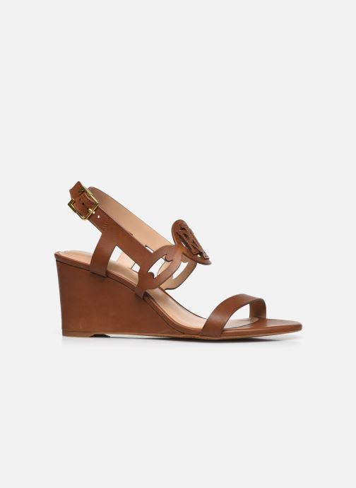 Sandali e scarpe aperte Lauren Ralph Lauren AMILEA-SANDALS-CASUAL WEDGE Marrone immagine posteriore