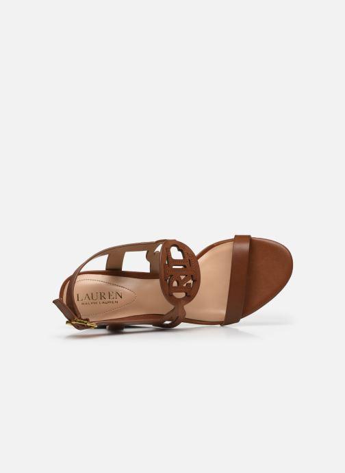 Sandali e scarpe aperte Lauren Ralph Lauren AMILEA-SANDALS-CASUAL WEDGE Marrone immagine sinistra