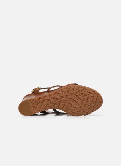 Sandali e scarpe aperte Lauren Ralph Lauren AMILEA-SANDALS-CASUAL WEDGE Marrone immagine dall'alto