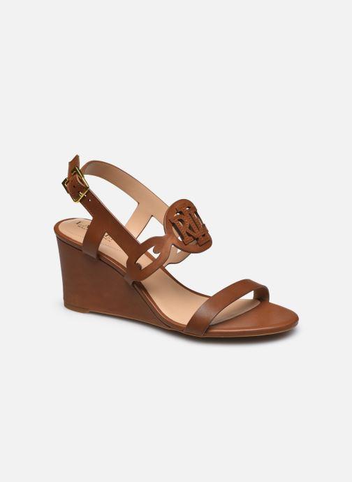 Sandali e scarpe aperte Lauren Ralph Lauren AMILEA-SANDALS-CASUAL WEDGE Marrone vedi dettaglio/paio