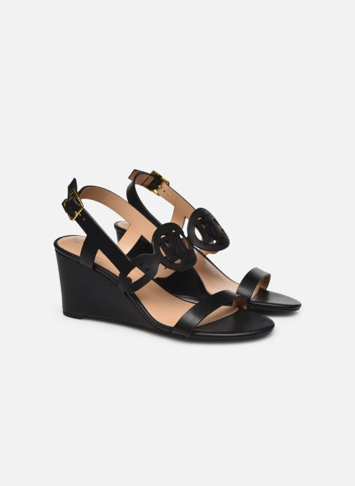 Sandali e scarpe aperte Lauren Ralph Lauren AMILEA-SANDALS-CASUAL WEDGE Nero immagine 3/4