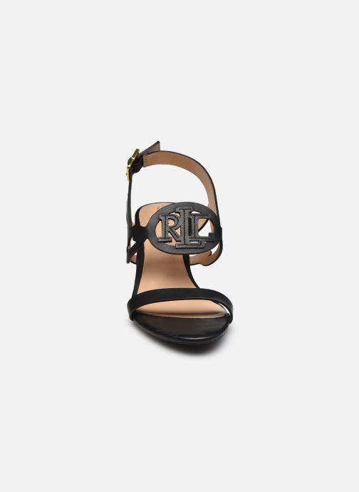 Sandali e scarpe aperte Lauren Ralph Lauren AMILEA-SANDALS-CASUAL WEDGE Nero modello indossato