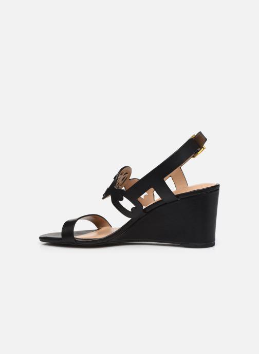 Sandali e scarpe aperte Lauren Ralph Lauren AMILEA-SANDALS-CASUAL WEDGE Nero immagine frontale