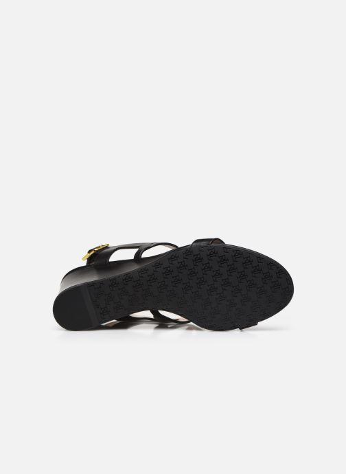 Sandali e scarpe aperte Lauren Ralph Lauren AMILEA-SANDALS-CASUAL WEDGE Nero immagine dall'alto