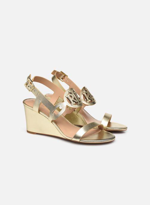 Sandali e scarpe aperte Lauren Ralph Lauren AMILEA-SANDALS-CASUAL WEDGE Oro e bronzo immagine 3/4