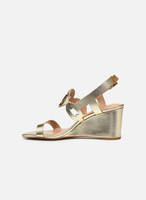 Sandali e scarpe aperte Lauren Ralph Lauren AMILEA-SANDALS-CASUAL WEDGE Oro e bronzo immagine frontale