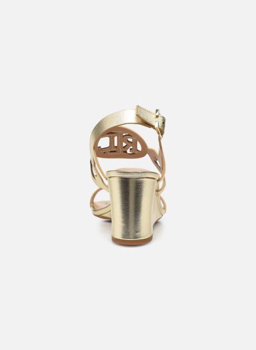 Sandali e scarpe aperte Lauren Ralph Lauren AMILEA-SANDALS-CASUAL WEDGE Oro e bronzo immagine destra