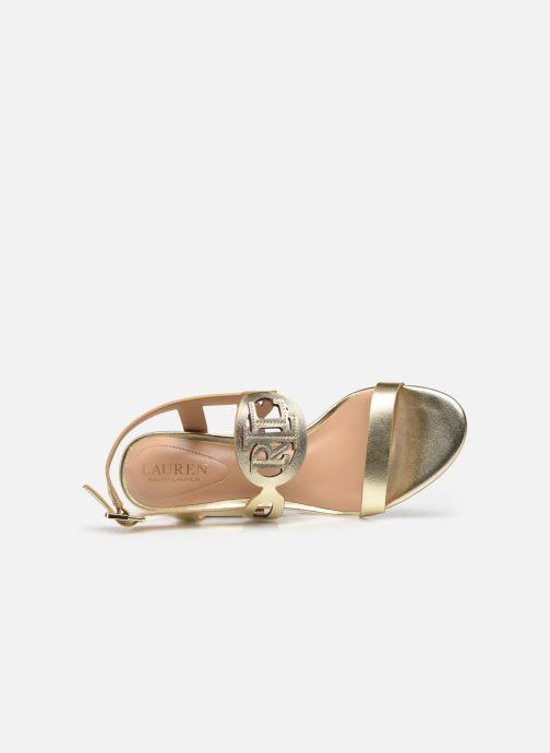 Sandali e scarpe aperte Lauren Ralph Lauren AMILEA-SANDALS-CASUAL WEDGE Oro e bronzo immagine sinistra