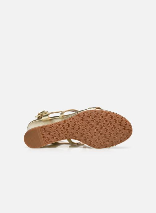 Sandali e scarpe aperte Lauren Ralph Lauren AMILEA-SANDALS-CASUAL WEDGE Oro e bronzo immagine dall'alto