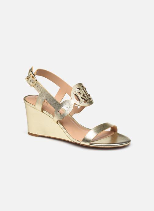 Sandali e scarpe aperte Lauren Ralph Lauren AMILEA-SANDALS-CASUAL WEDGE Oro e bronzo vedi dettaglio/paio
