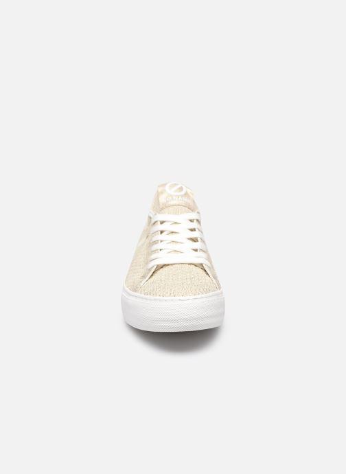 Sneakers No Name Arcade Fly Flex Recycled/Gloom Oro e bronzo modello indossato