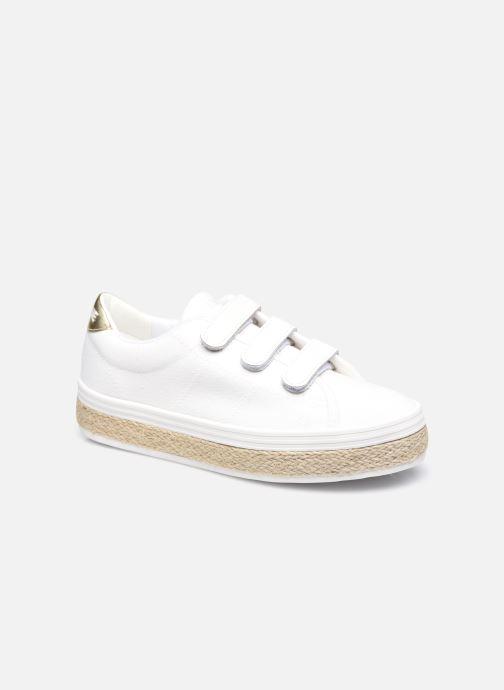 Sneakers No Name Malibu Straps Canvas/Nappa/Blumy Wit detail
