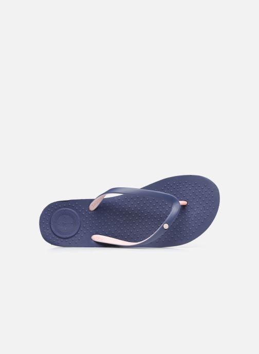 Zehensandalen Isotoner Tong Everywear unie W blau ansicht von links