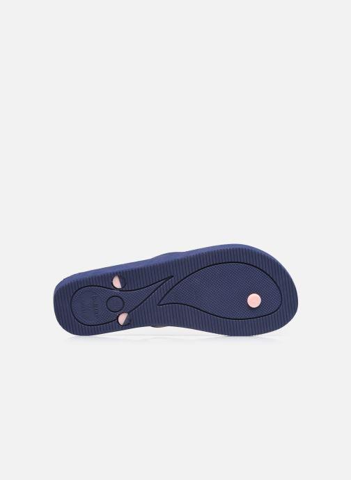 Zehensandalen Isotoner Tong Everywear unie W blau ansicht von oben