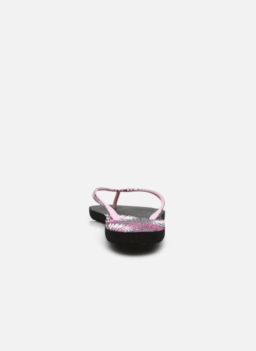 Zehensandalen Isotoner Tong Everywear imprimée schwarz ansicht von rechts