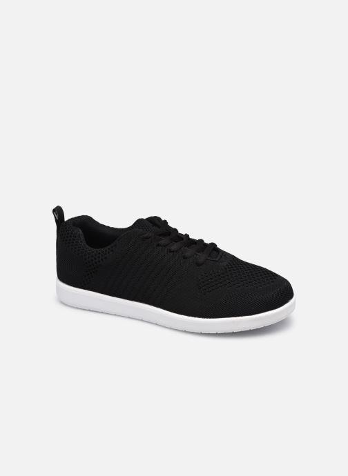 Sneakers Isotoner Basket Everywear flyknit à lacets Zwart detail