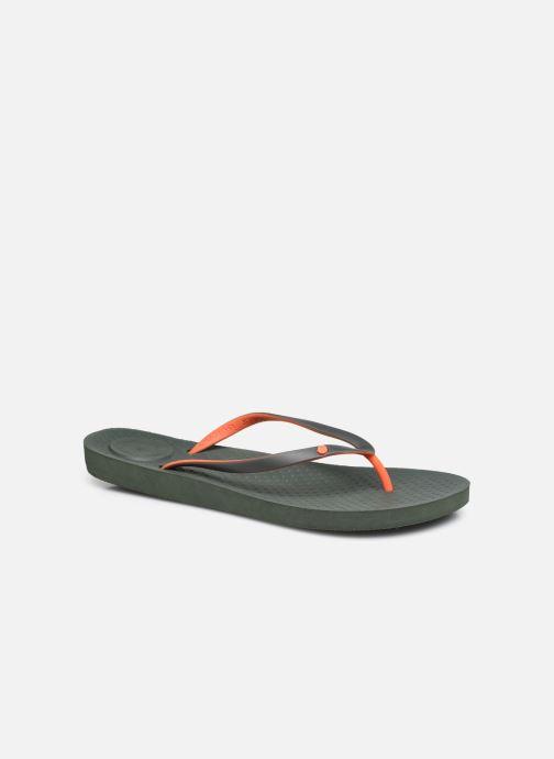 Slippers Isotoner Tong Everywear unie Groen detail