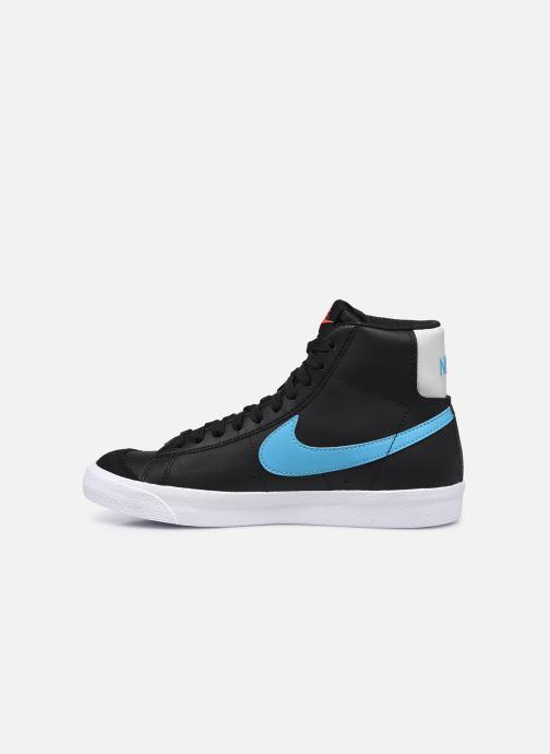 Sneaker Nike Nike Blazer Mid '77 Leather Gs schwarz ansicht von vorne