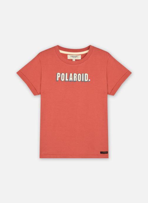 Vêtements A Monday In Copenhagen  Polaroid T-shirt Rouge vue détail/paire