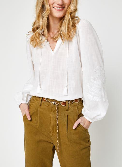 Vêtements La Fée Maraboutée Fa-To-Bondia Blanc vue détail/paire
